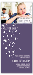 2019 Photo Cap Gown Flying Graduation Invite