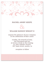 Creative Graphic Pink White Wedding Announcement Samples